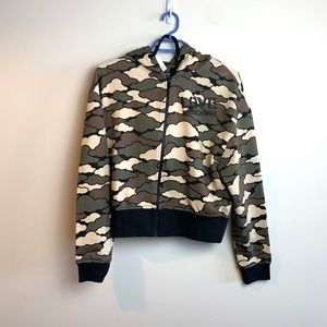 Love Moschino Green Hoodie Zip Up Jacket